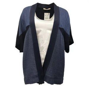 Zara navy blue open front knit top cardigan